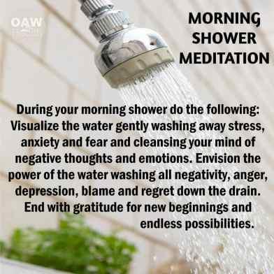 morning shower meditation