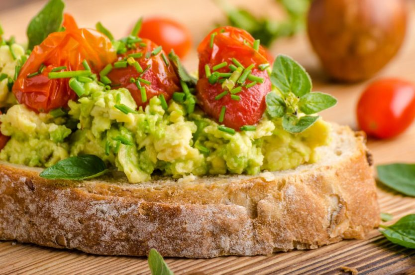 mouthwatering avocado butter spread with tomatoes