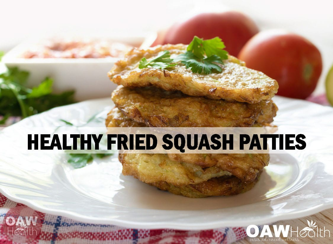 Healthy Fried Squash Patties