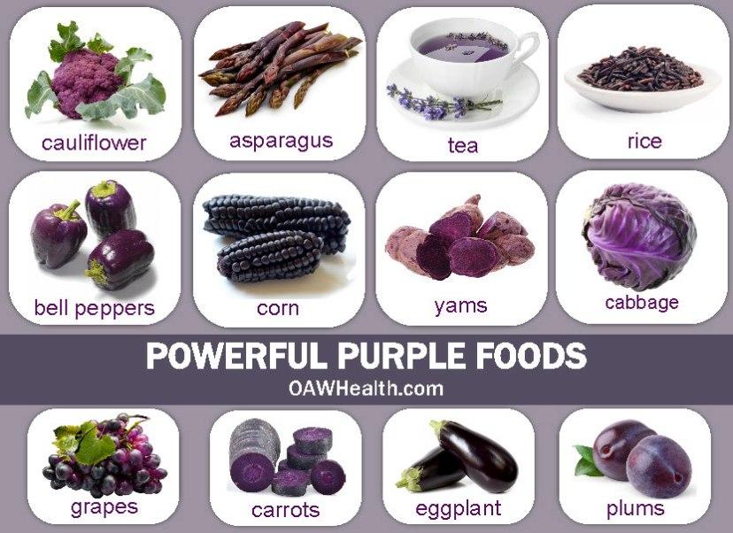health promoting powerful purple foods