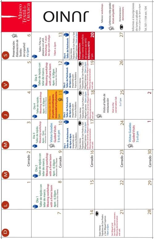 Museo Textil June09 Calendar2