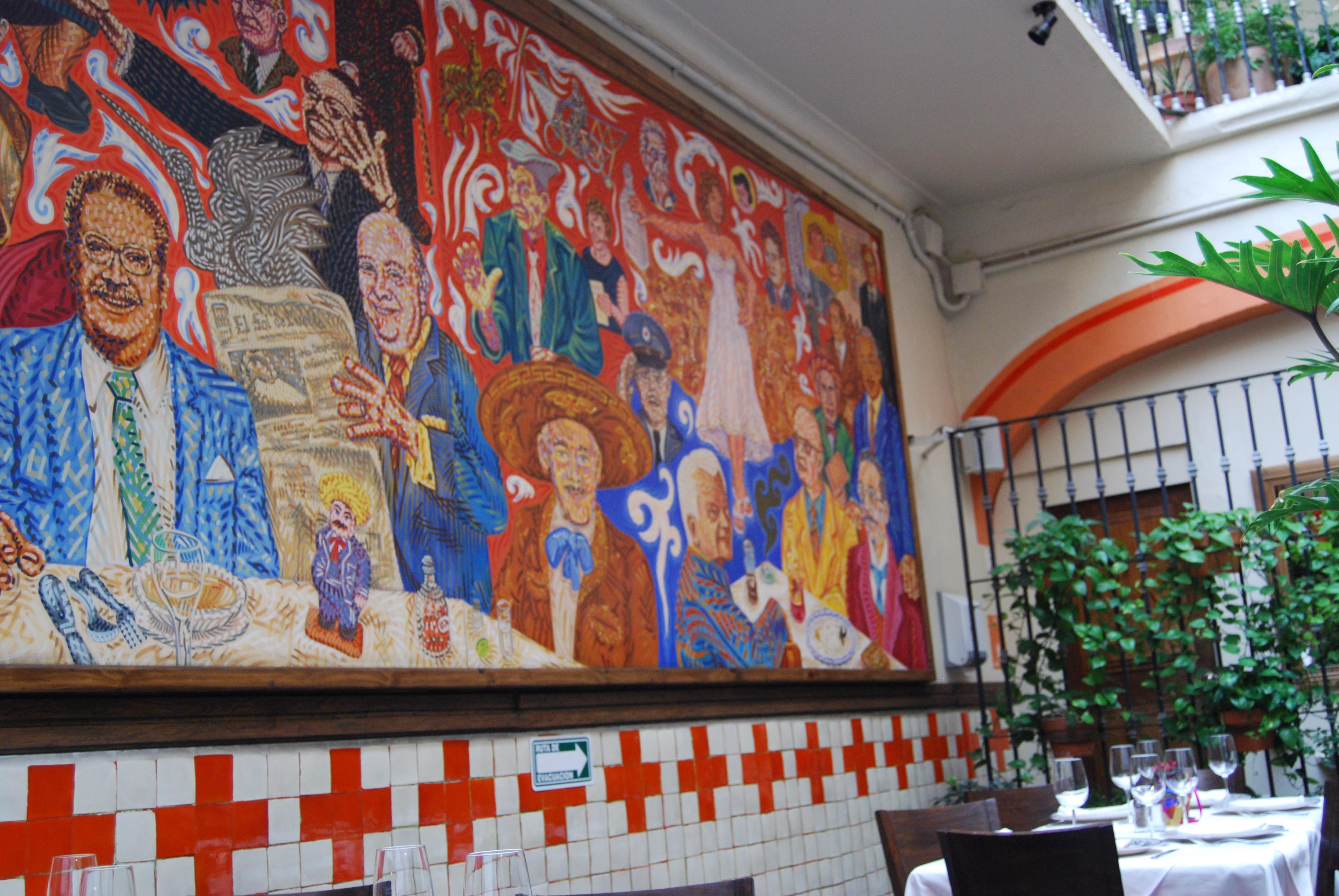Puebla restaurant el mural de los poblanos for El mural de bonampak