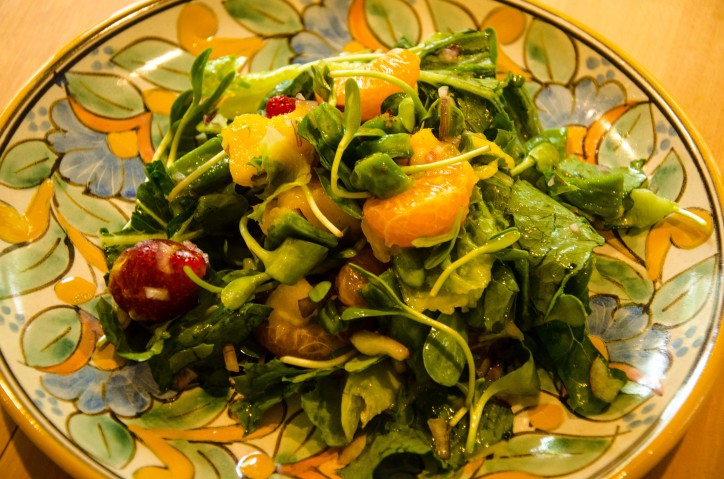 Crunchy No Cook Nopal Cactus Salad With Fruit And Sprouts
