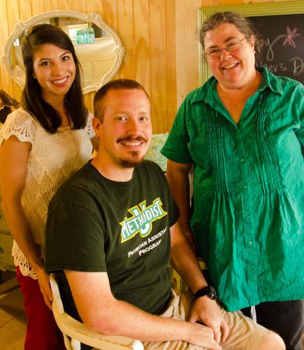 Meagan Parsons, Benjamin Cook and Professor Deborah Morris, M.D., P.A.