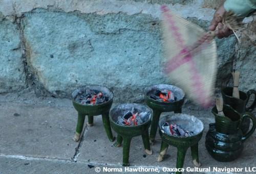 Copal incense burners