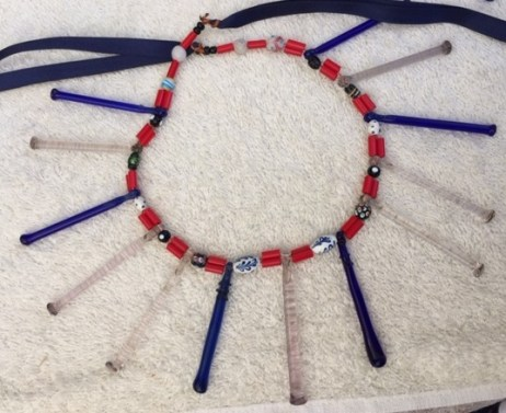 One of three necklaces for sale in Mitla that I was considering