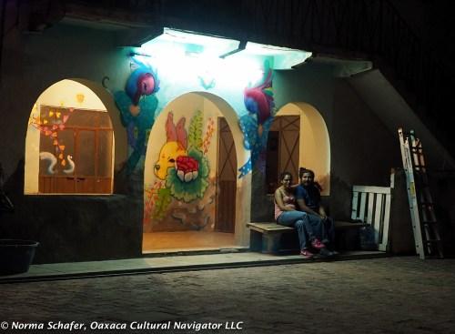 Wall murals highlight artist work space
