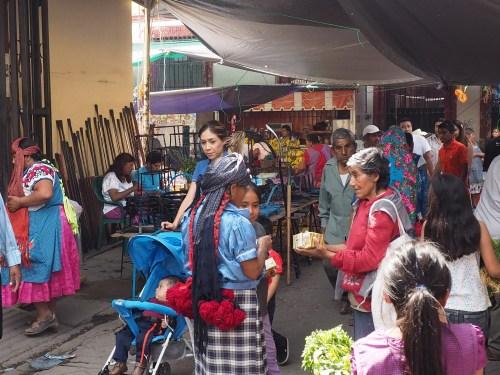A Oaxaca market scene