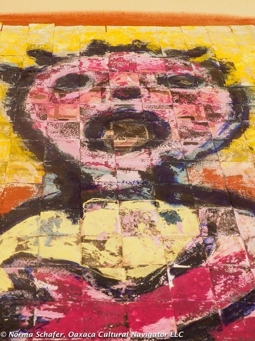 Woven handmade paper painted with a child's scream or song. You decide.