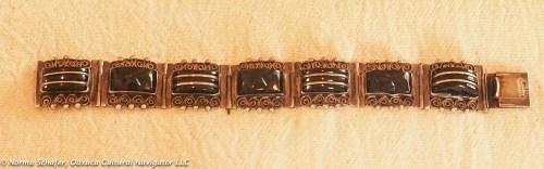 "Black Onyx Vintage Bracelet, 7"" long, $155"