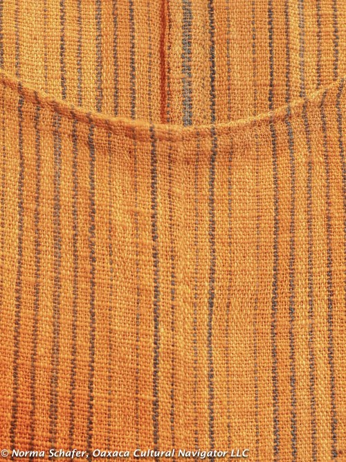 3B. Detail, Dosa-inspired dress with Khadi Oaxaca fabric