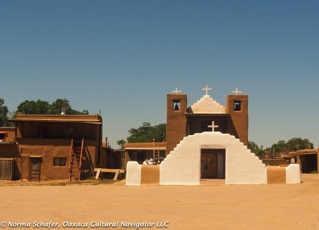 Jerome Church, Taos Pueblo with Blue Altar