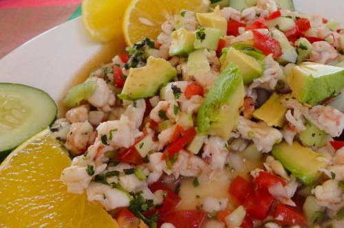 Kathy Maher Fritz. Ceviche at Rocio, Punta Mita. My mouth waters just looking at this!