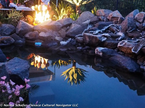 Pond sunset, end to a perfect San Diego day