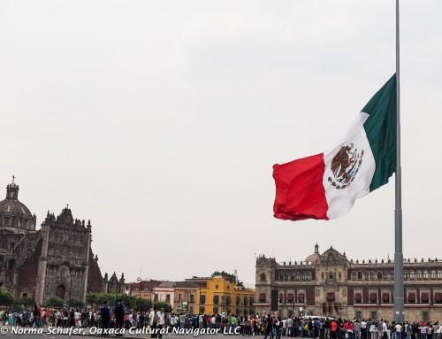 Mexican Flag, La Bandera de Mexico, Zocalo, Mexico City
