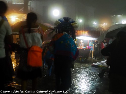 Our evening ends amid the rain drops and shadows of retreating dancers