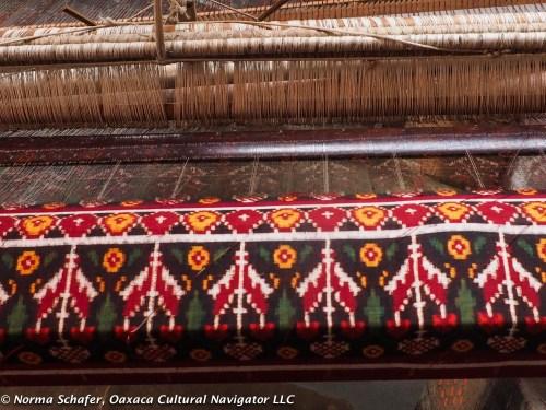 Ikat weaving in process, Salvi family workshop