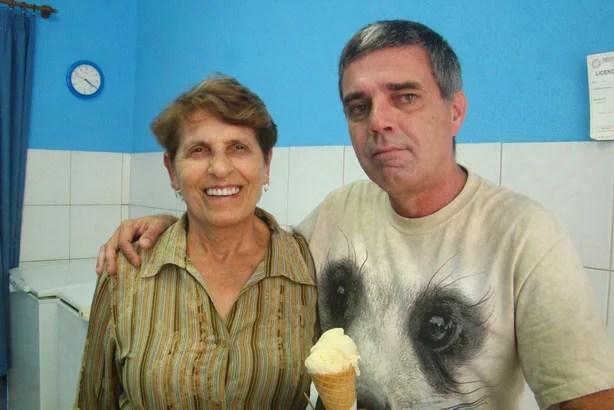 Eu e a simpática dona Vera