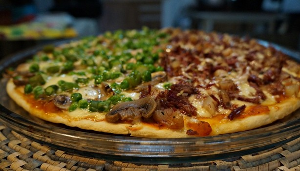 Pizza de carne seca 2