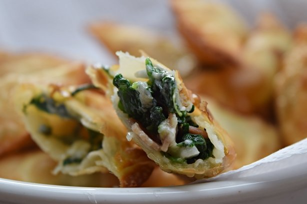 Pastel de espinafre, gorgonzola e Jamon 1