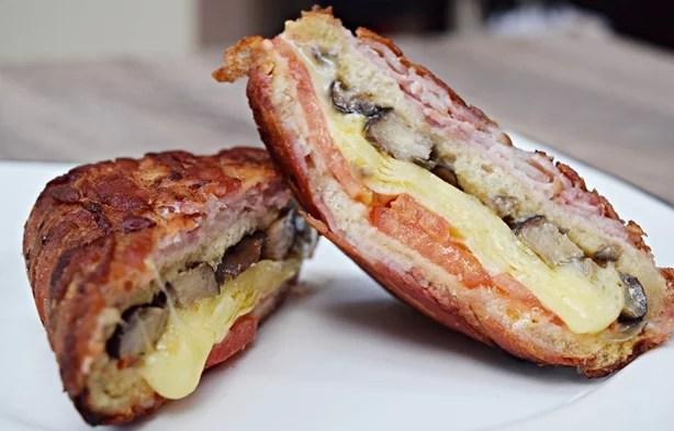 Sanduíche enrolado de bacon 1
