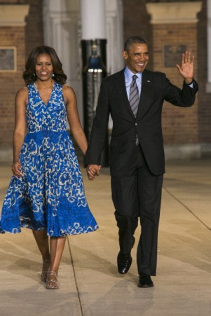 President Obama Attends the Marine Barracks Evening Parade