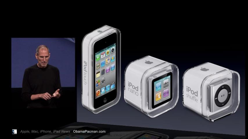 2010 IPod Shuffle Nano Touch 4g Steve Jobs Obama Pacman