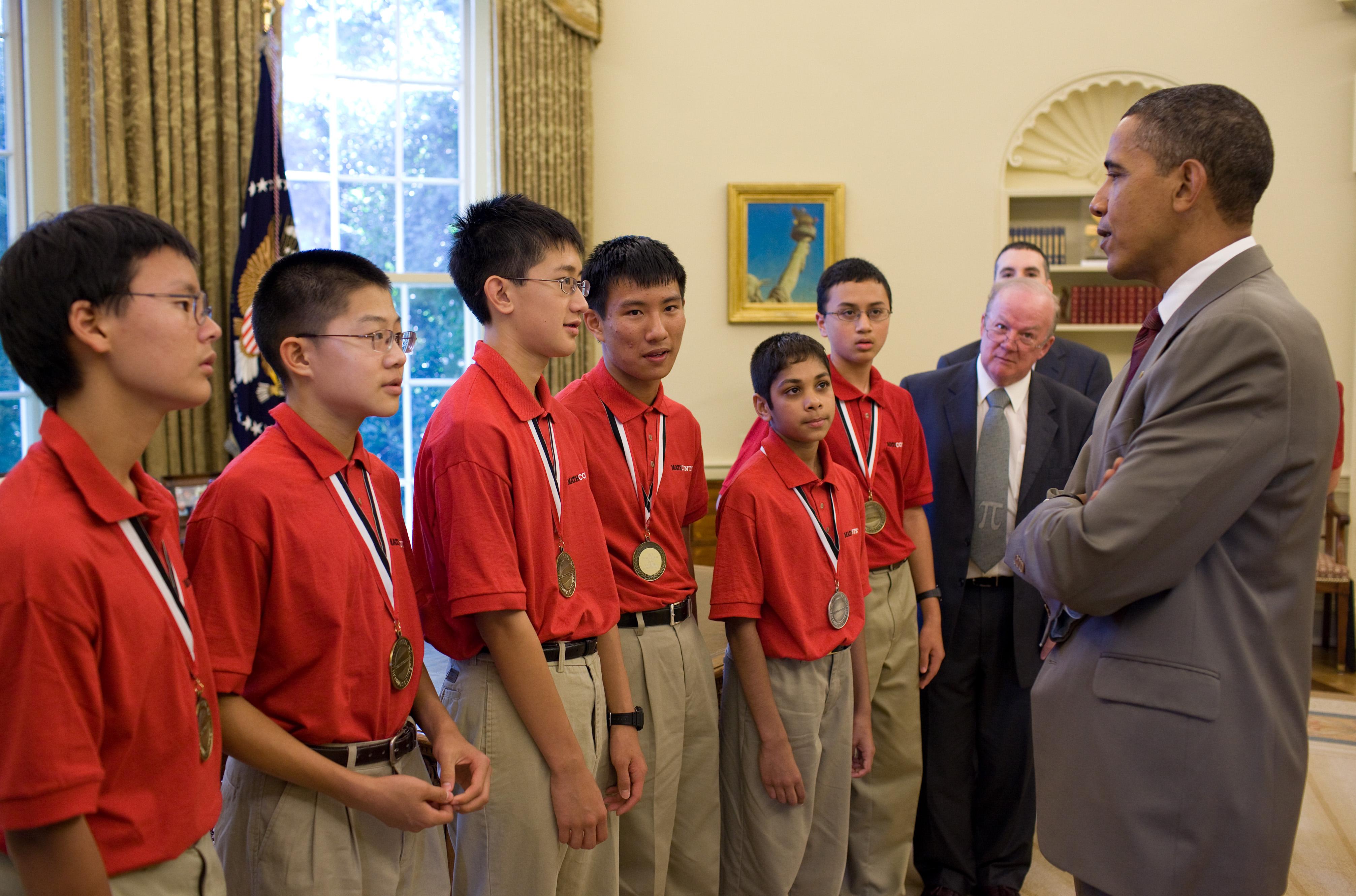 Mathcounts Winners Visit President Obama