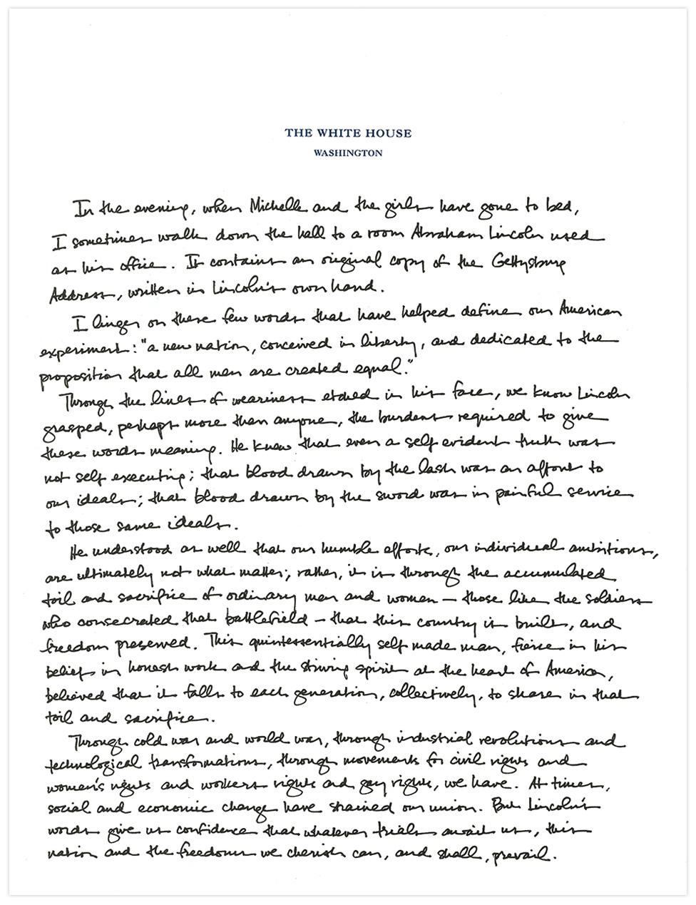 Letter Written Vice President