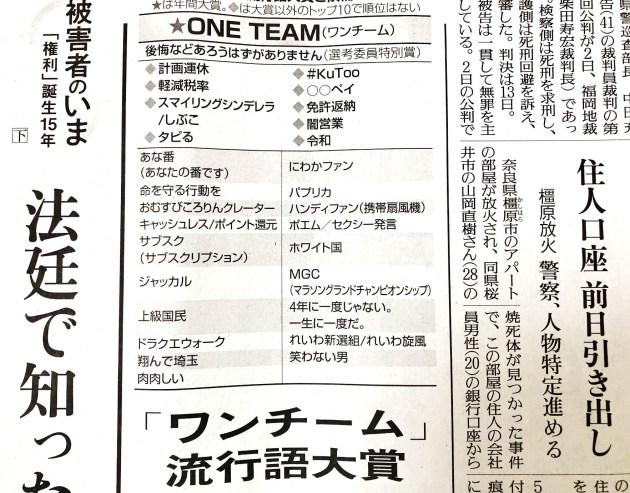 『ONE TEAM』