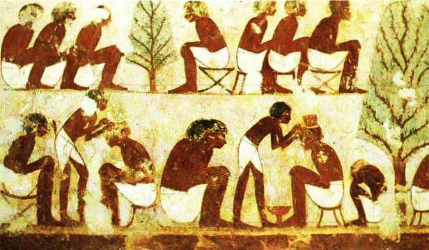 Barbeiro e Banho no Antigo Egito