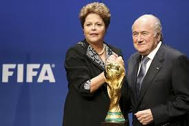 Joseph Blatter, com a presidente Dilma Rousseff, na Suíça.