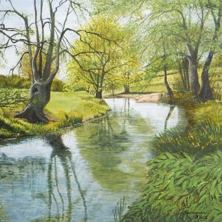 Chew River In Spring