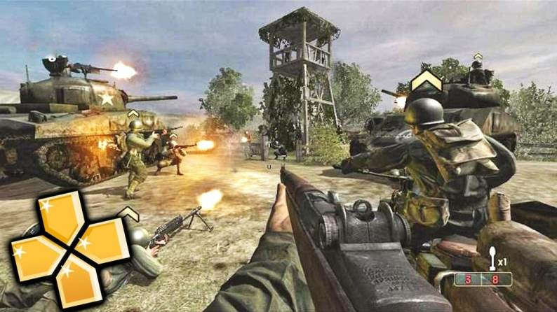 Call of Duty (Roads of Victory) psp game