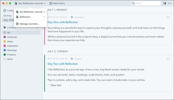 Reflection journal for Mac