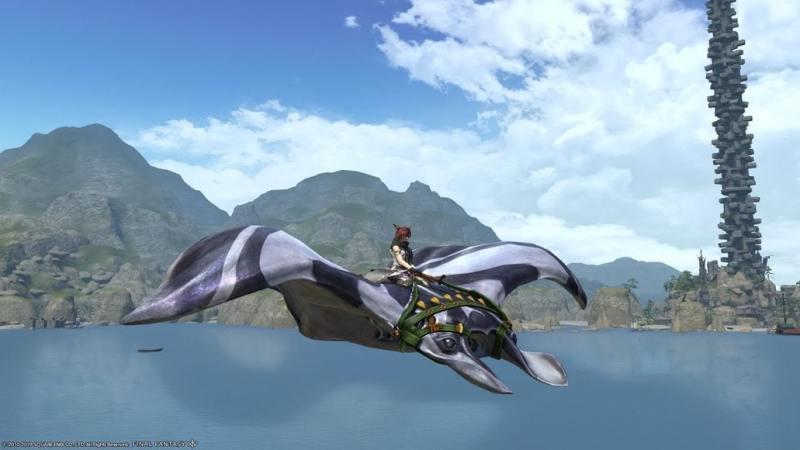 Final fantasy XIV - Striped ray mount - YouTube