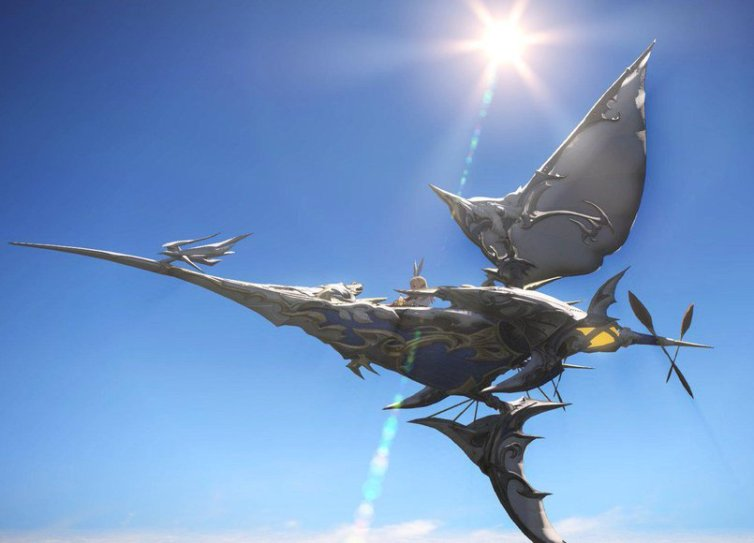 """Nilla on Twitter: """"Taking my Manacutter out for a flight :D #FFXIV ..."""