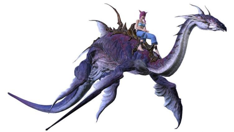 Final Fantasy 14: Stormblood' Syldra Mount:Collector's edition ...