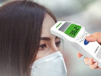 Pemeriksaan suhu dengan thermogun