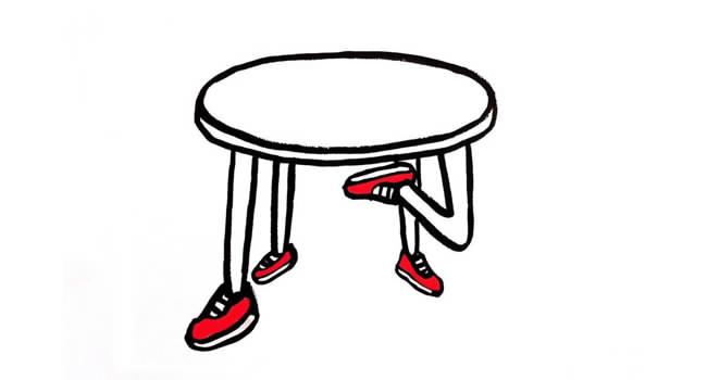 Las 4 patas de la mesa