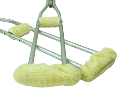 Crutch Pad & Hand Grip Covers Soft Synthetic Fleece, Underarm Crutch Pad & Hand Grip Covers Cushion