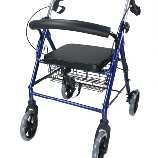 ObboMed Foldable Rollator with Lock Brakes