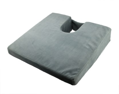 Wedge Cushion with Coccyx Cut-Out, Velour Cover