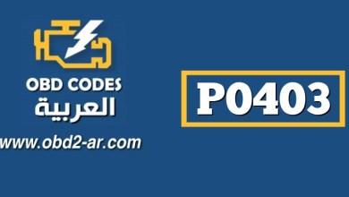 P0403 – حساس EGR (تدوير غازات العادم)