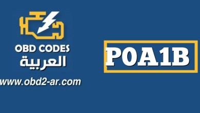 """P0A1B – وحدة التحكم في المحرك """"A"""""""