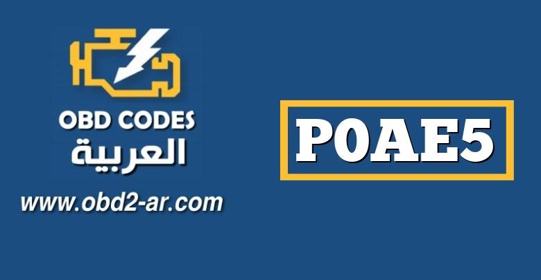 P0AE5 – المدى / الأداء