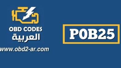 """P0B25 – بطارية هجينة """"A"""" منخفضة الجهد"""