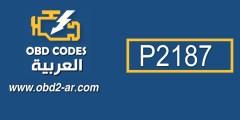 كود P2187
