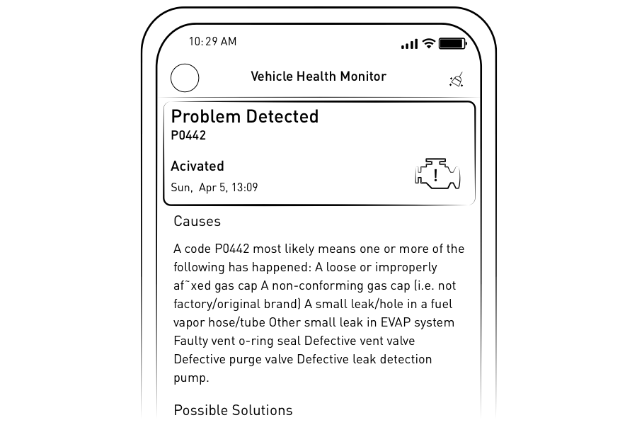 Bluetooth OBD2 App Interface
