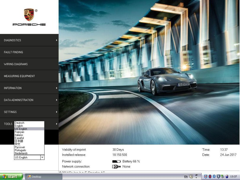 Software HDD for Porsche Piwis 2 Tester V18.150.500